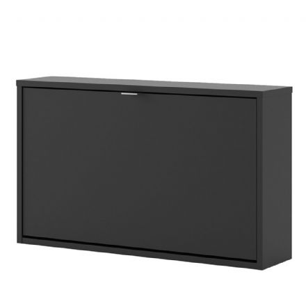 Shoes Shoe cabinet w. 1 tilting door and 1 layer in Matt Black